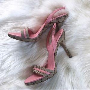 Gucci Canvas Guccissima Heels/Sandals